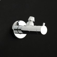 Angle valve in round shape.