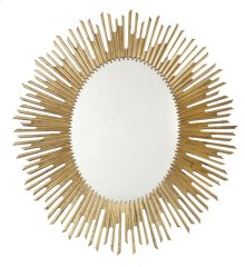 Salon Oval Mirror in Antique Gold Leaf (341)