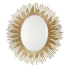 Salon Oval Mirror in Antique Gold Leaf (341)