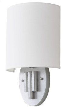 Darlene Wall Sconce - Silver Shade Color: Off-White