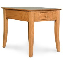 "Loft Leg 1-Drawer End Table, Loft Leg 1-Drawer End Table, 16""x26""x22"""
