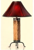 Light Wood & Iron Lamp Product Image