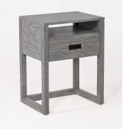 Vadstena Solid Wood Night Stand - Grey Product Image