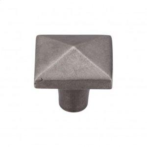 Aspen Square Knob 1 1/2 Inch - Silicon Bronze Light
