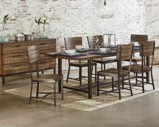 Industrial Framework Dining Room