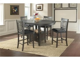 The Max Collection - 5pc. Dark Mission (Distressed) Dining Set
