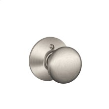 Plymouth Knob Non-turning Lock - Satin Nickel