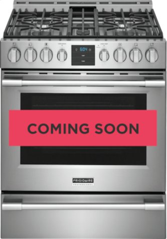 """Frigidaire Professional 30"""" Front Control Gas Range with Air Fry"""