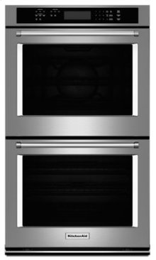 """EDMOND LOCATION ONLY! - 30"""" Double Wall Oven True Convection (Upper Oven) **SOLD W/ WARMING DRAWER MODEL KOWT100ESS ONLY!!**"""