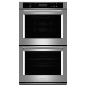 """KITCHENAID30"""" Double Wall Oven with Even-Heat True Convection (Upper Oven) - Stainless Steel"""