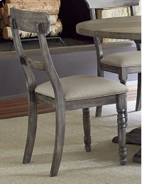 Ladderback Chair (2 per carton) - Weathered Pepper Finish Product Image