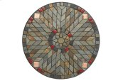 "Sagrada 24"" Round Bistro Ceramic Table Top & Iron Base"