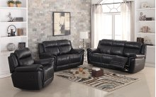 8001 Black Power Reclining Sofa