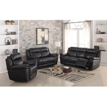 8001-L Black Power Reclining Love Seat
