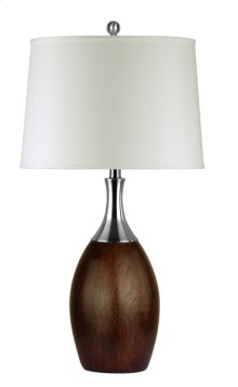 150W 3 way Bologna metal /faux wood table lamp