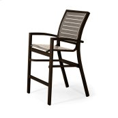 Kendall Contract Strap Balcony Height Stacking Cafe Chair