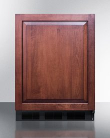 Built-in Undercounter ADA Compliant Refrigerator-freezer for General Purpose Use, Cycle Defrost W/dual Evaporator Cooling, Panel-ready Door, and Black Cabinet