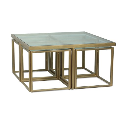 Brass Coffee Table Squared