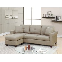 F6572 / Cat.19.p2- 2PCS SECTIONAL BEIGE