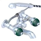 Exposed Tub Filler With Cradle Handshower, Wall Mounted Product Image