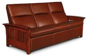 Grand Rapids Sofa Recliner, Leather Cushion Seat Product Image