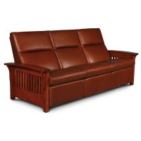 Grand Rapids Sofa Recliner, Fabric Cushion Seat Product Image