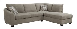 2pc Sectional-lsf Sofa-rsf Chaise Bone W/2 Accent Pillows Product Image