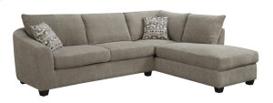 2pc Sectional-lsf Sofa-rsf Chaise Bone W/2 Accent Pillows