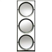 Metal Wall Mirror  9in X 26in