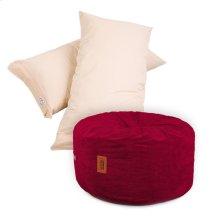 Pillow Pod Footstools - Corduroy - Wine