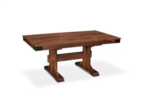 """Montauk Trestle II Table, Montauk Trestle II Table, 48""""x96"""", 18"""" Stationary Butterfly Leaf on Each End"""