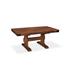 """Montauk Trestle II Table, Montauk Trestle II Table, 38""""x60"""", Solid Top"""