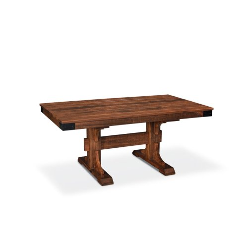 """Montauk Trestle II Table, Montauk Trestle II Table, 38""""x72"""", 18"""" Stationary Butterfly Leaf on Each End"""