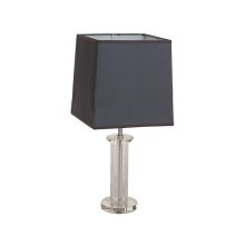 Montreal Crystal Table Lamp w/Rect Shade, Violet, - Pack/2