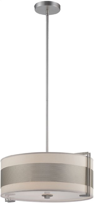 Ceiling Lamp, Ss/white Paper Shade, Type A 60wx3