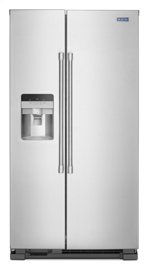 36-Inch Wide Side-by-Side Refrigerator with Exterior Ice and Water Dispenser - 25 Cu. Ft. Product Image