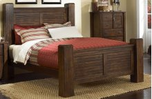 5/0 Queen Post Footboard - Mesquite Pine Finish