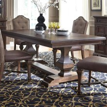 5 Piece Double Pedestal Table Set
