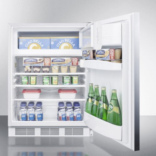 Freestanding Refrigerator-freezer for General Purpose Use, With Dual Evaporator Cooling, Cycle Defrost, Ss Door, Horizontal Handle and White Cabinet