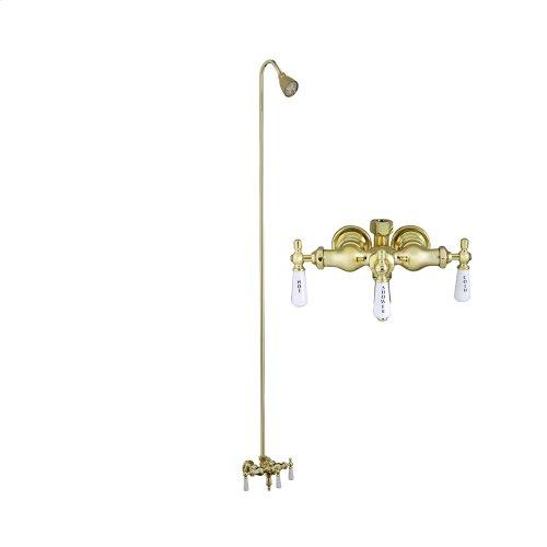 Tub Filler with Diverter - Polished Brass