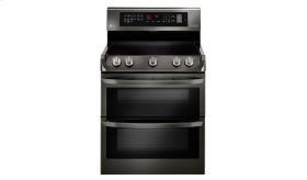 LG Black Stainless Steel Series 7.3 cu. ft. Electric Double Oven Range with ProBake Convection®, EasyClean® and Infrared Heating System