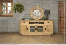 """80"""" TV Stand w/ 2 Drawer, 2 Glass Doors & 2 Wooden Doors"""