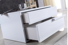 The Dolce Right Side High Gloss White Lacquer Nightstand / End Table