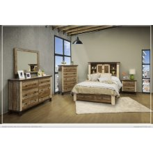6/6 Storage Footboard w/ 2 Drawers & Rails