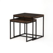 English Brown Finish Harlow Nesting End Tables