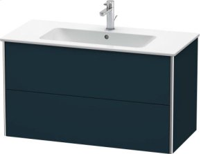 Vanity Unit Wall-mounted, Night Blue Satin Matt Lacquer