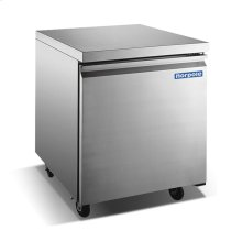 "27"" 1 Door Stainless Steel Undercounter Freezer"