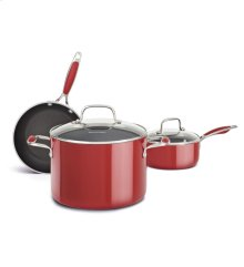 KitchenAid Aluminum Nonstick 5-Piece Set - Empire Red