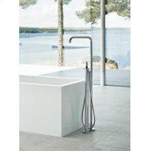 Free-standing bath mixer with hand shower, high 1080 mm - Grey