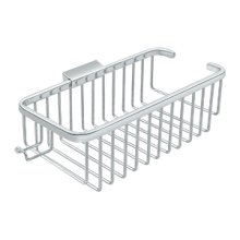 "Wire Basket 10-3/8"", Deep, Rectangular with Hook - Polished Chrome"